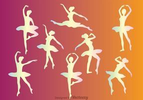 Pastel Ballet Bailarín Femenino Vectores