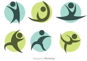 Gymnastiek Icon Set Vector Set
