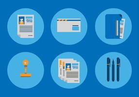 Curriculum Vitae Icon Vektoren
