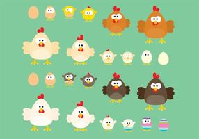 Chicken Cartoon Vectors