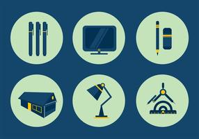 Architectuur Icon Vectors