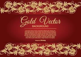 Elegante ouro e fundo vermelho Ilustração