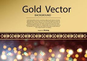 Illustration élégante d'or et d'arrière-plan rouge