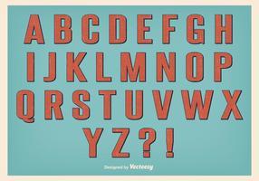 Conjunto de alfabeto de estilo retro