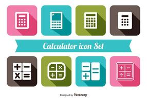 Trendy Rechner Icon Set