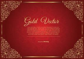 Ilustração elegante do fundo vermelho do ouro