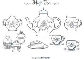 Free Hand Drawn High Tea Vectors