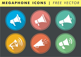 Megaphone Icons Free Vector