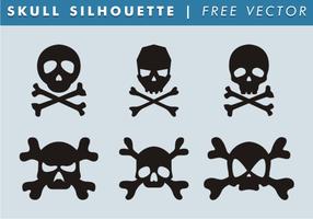 Skull & Bones Silhouette Free Vector