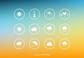 Gratis Vector Weather Icon Set