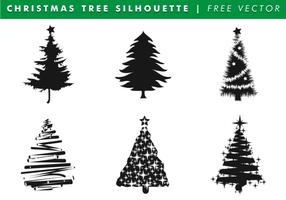 Silhuetas de árvore de natal Vector grátis