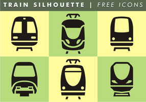 Train Silhouette Free Icons vector