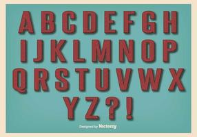 Conjunto retro del alfabeto del estilo de la vendimia