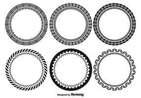 Dekorative Runde Rahmen Set