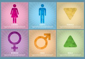 Plantillas de Vector de Género