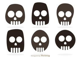 Vecteurs de symboles de crâne
