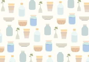 Vector Household Objects Pattern Background
