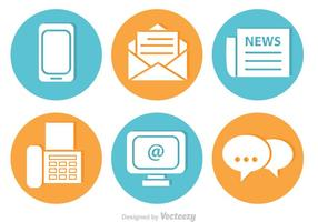 Contact Vector Icons Set