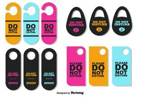 Do Not Disturb Signs Vector Set