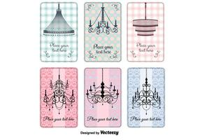 Vintage Crystal Chandelier Vectors