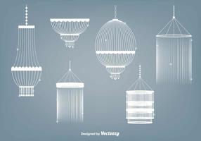 Ensemble de vecteur de lustre en cristal