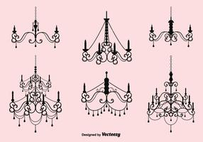 Free Vector Crystal Chandelier Set