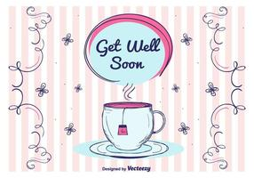 Get Well Soon Vector Card