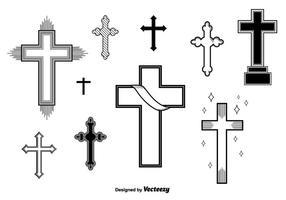 Ensemble de croix de vecteur