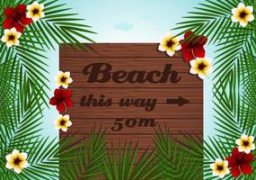 Beach Billboard Vector