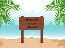 Billboard Beach Vector