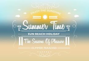 Summer Time Vector Background