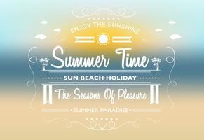 Fondo del vector del tiempo de verano