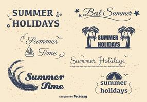Summer Holidays Labels