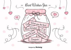 Best Wishes Mason Jar