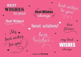Etiquetas engomadas del vector de los mejores deseos
