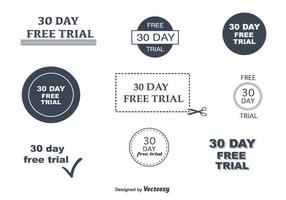 30-dagen vrije proefvectoren
