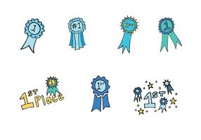 Gratis First Place Ribbon Vector Series