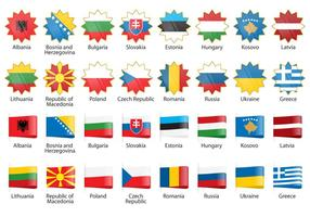 Vector Europe Flags