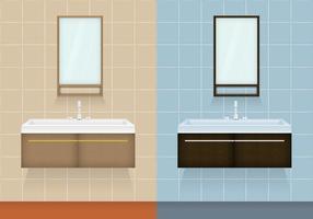 Vecteurs d'armoires de salle de bains