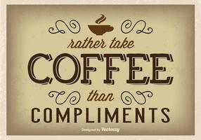 Typografisches Kaffee Poster