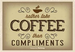 Poster tipográfico do café