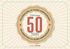 50th Year Anniversary Illustration vector