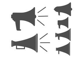 Icône vectorielle de mégaphone vecteur