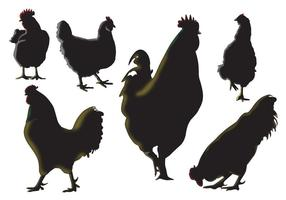 Rooster Silhouette Vectors