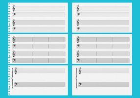 Hojas de música vectorial
