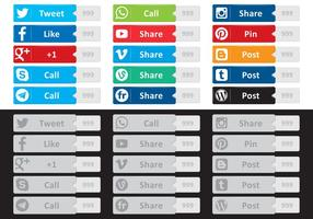 Vetores de Social Media Buttton