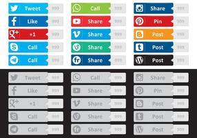 Sociala medier Buttton vektorer