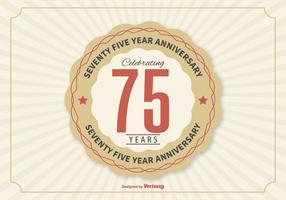75 Year Anniversary Illustration vector