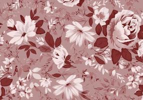 Realistiska Roses Vector Bakgrund Texture Free