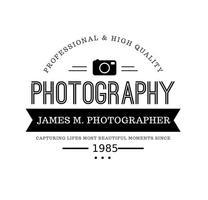 Modèle de logo de photographie vintage